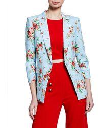 Likely Amelia Floral-print Blazer - Red