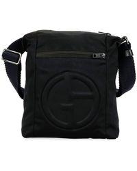 d93d0792798e Giorgio Armani - Men s Logo-embossed Crossbody Bag - Lyst