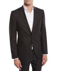 BOSS - Men's Huge Genius Solid Slim-fit Two-piece Wool Suit - Lyst