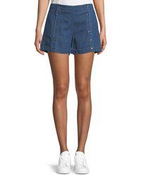 3x1 - Amy Button Denim Shorts - Lyst