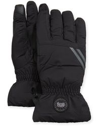 Canada Goose Men's Hybridge Down-filled Nylon Gloves - Black