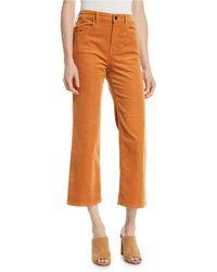 J Brand - Joan High-rise Cropped Corduroy Pants - Lyst