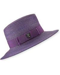 16e5cdd6622 Lyst - Philip Treacy Buntalembellished Sinamay Hat in Black