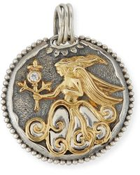 Konstantino - Cancer Carved Zodiac Pendant With Diamond - Lyst