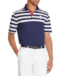 """Ralph Lauren - Men's """"wednesday"""" Usa Ryder Cup Striped French-knit Golf Polo Shirt - Lyst"""