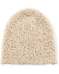 Eileen Fisher - Solid Plush Beanie Hat - Lyst