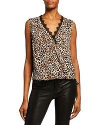 Velvet Florence Leopard-print Sleeveless Top - Brown