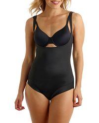 Tc Fine Intimates Wear Your Own Bra Body Briefer Bodysuit - Black