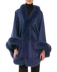 Gorski - Cashmere Capelet With Fox Fur - Lyst