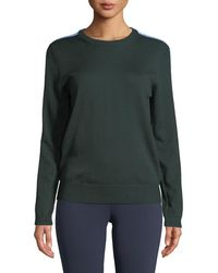 Tory Sport - Double-striped Cashmere Performance Sweater - Lyst