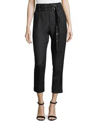 IRO - Lana High-waist Straight-leg Wool Ankle Pants - Lyst