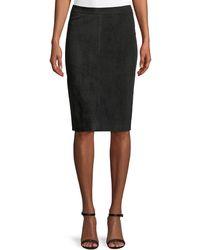 ESCADA | Goat Suede Pencil Skirt | Lyst
