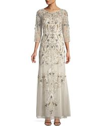 Aidan Mattox - Embellished Scoop-back Gown - Lyst