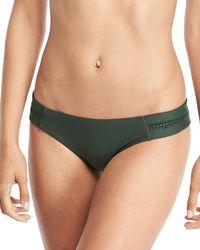 Pilyq - Tab Stitch-detail Swim Bikini Bottom - Lyst