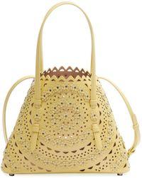 Alaïa Mina Mini Cutout Top Handle Bag - Yellow
