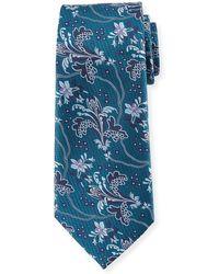 Ermenegildo Zegna | Large Floral Silk Tie | Lyst