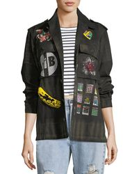 Libertine - Crystal Collage Beaded Army Jacket - Lyst