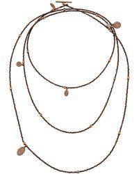 Brunello Cucinelli - Multi-strand Hematite Necklace - Lyst