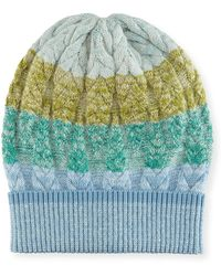 Missoni | Striped Cable-knit Beanie Hat | Lyst