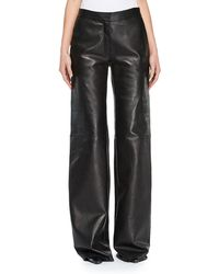 Off-White c/o Virgil Abloh | Wide-leg Leather Pants | Lyst