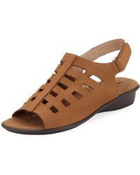 Sesto Meucci - Ellia Laser-cut Nubuck Comfort Sandal - Lyst
