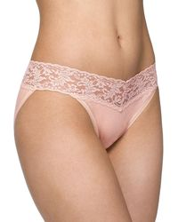 Hanky Panky - Signature Lace Organic Cotton V-kini Panties - Lyst