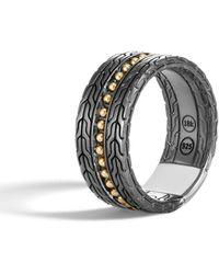 John Hardy - Men's Classic Chain 18k Stud Ring - Lyst