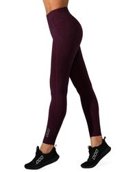 Lorna Jane Supportive Fit Full-length Tights - Purple