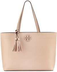 a4074596f148 Tory Burch - Mcgraw Pebbled Leather Tote Bag - Lyst