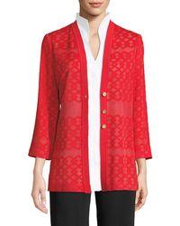 Misook - Subtly Sheer Button-front Jacket - Lyst