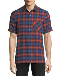 Ovadia And Sons - Men's Plaid Short-sleeve Camp Shirt - Lyst