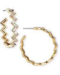Lulu Frost Adore Hoop Earrings - Metallic