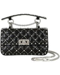 Valentino Spike. It Small Micro-stud Shoulder Bag - Black