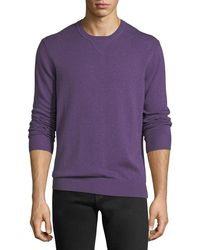 Neiman Marcus - Donegal Crewneck Sweatshirt With Elbow Patches - Lyst