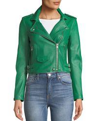 IRO | Ashville Cropped Leather Jacket | Lyst