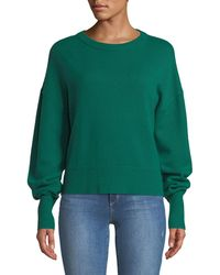 Theory - Crewneck Drop-shoulder Long-sleeve Cashmere Sweater - Lyst