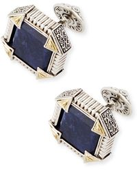 Konstantino - Silver & 18k Gold Cuff Links With Sodalite - Lyst