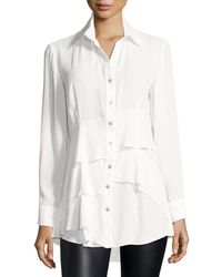 Finley - Jenna Tiered Crepe Blouse - Lyst