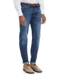 Brunello Cucinelli - Basic-fit Straight-leg Denim Jeans - Lyst
