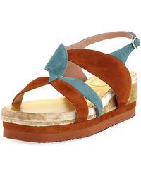 Dries Van Noten | Flatform Wedge Platform Sandal | Lyst