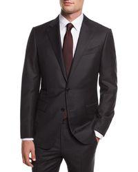 Ermenegildo Zegna - Striped Wool Two-piece Suit - Lyst