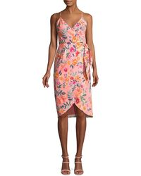 Lovers + Friends - Orchid Sleeveless Floral Faux-wrap Dress - Lyst
