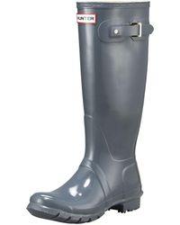 HUNTER - Tall Gloss Boot - Lyst