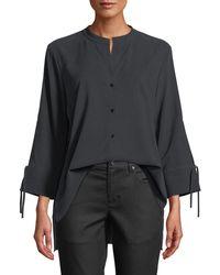 Eileen Fisher - Fuji Silk 3/4-sleeve Blouse - Lyst
