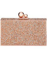 Sophia Webster - Clara Crystal Box Clutch Bag Gold - Lyst