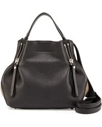 Burberry Brit - Maidstone Leather Small Zip Tote Bag - Lyst