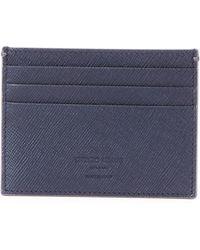 Giorgio Armani - Crosshatch Leather Credit Card Case - Lyst