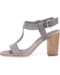 Lola Cruz - Chain-detail T-strap Sandal - Lyst
