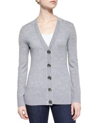 Tory Burch - Simone Button-front Wool Cardigan - Lyst