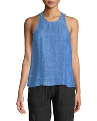 Joie - Dany Sleeveless Button-back Linen Top - Lyst